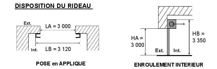 Rideau métallique LA TOULOUSAINE L 3000 x H 3000 mm LA TOULOUSAINE
