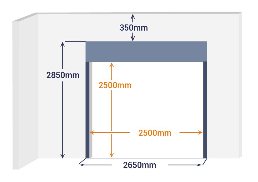 Aide a la prise de mesure rideau metallique
